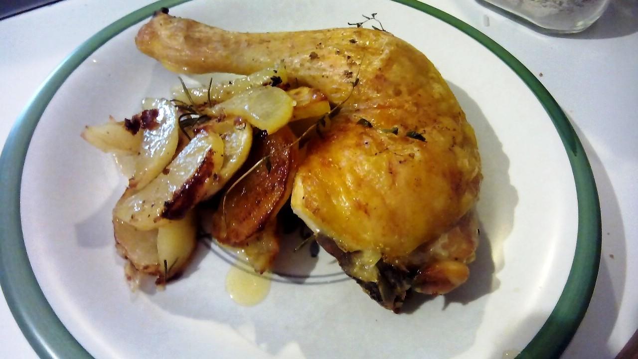 Pollo al lim n con patatas panadera ahorarecetas - Pollo al limon isasaweis ...