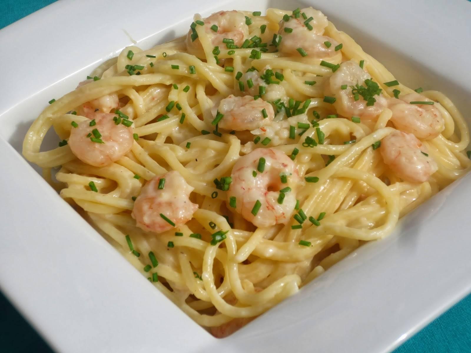 Espaguetis Con Gambas Y Mantequilla De Ajo Ahorarecetas